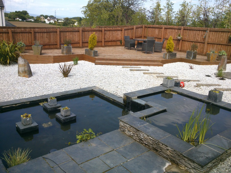 Northern aqua glasgow based pond aquarium and fishery for Contemporary koi pond design